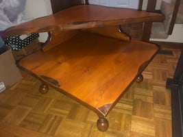 Raw edged 2 level coffee bale/side table