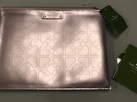 NEW WITH TAG KATE SPADE CLUTCH IN SILVER  Richmond, V6V 1B7