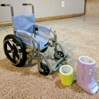 American Girl Doll Wheelchai, Ankle and Wrist Cast Roscoe, 61073