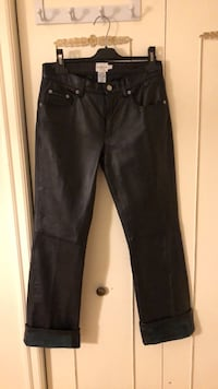 100% Leather Calvin Klein black pants - size 2