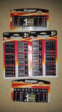 4 Brand New packs of Energizer AA24 Batteries $35 for 4 packs  Mississauga