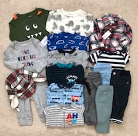 Baby boys Fall/Winter clothing lot size 3-6 months Mississauga, L5M 6C6