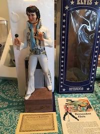 Elvis Presley collectible porcelain music box decanter. Just in time for Christmas ( I have 2 $100 each) Virginia Beach, 23462