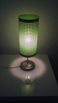green and white table lamp Winnipeg, R2M 3B9