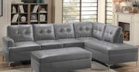 Gray sectional with ottoman  601 mi