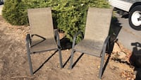 two gray-and-black folding chairs Bend, 97701