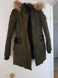 brown fur-trimmed parka Laval, H7A