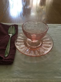 Pink depression glass Mc Lean, 22102