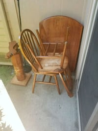 brown wooden windsor rocking chair Everett, 98204