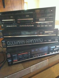 black Sony stereo component system