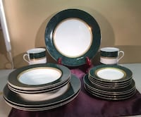 20 Piece Set Service for 4 Fine China - Imperial Retroneu Collection Malachite Green 488 -great for college! Pawtucket, 02861