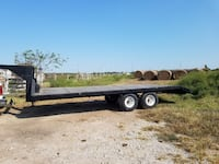 black and brown utility trailer 26 mi