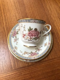 Royal Doulton 'Canton' bone china cup, saucer, plate North Vancouver