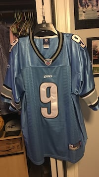 Authentic mathew stafford jersey blue and silver (size 52) xl (barely worn) Halethorpe, 21227