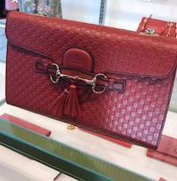 Brand New Authentic Gucci Monogram Red Leather Gold Hardware Toronto, M5J 0B1