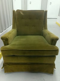 brown suede sofa chair with ottoman Guelph, N1E 3B7