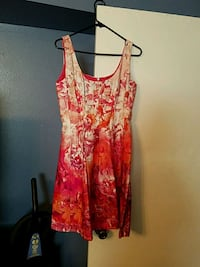 women's red and white floral sleeveless dress Lafayette, 70503