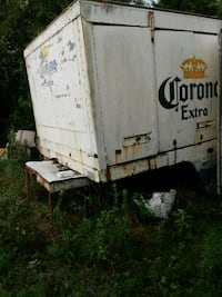 Closed compartments trailer.  San Marcos