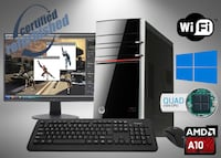 HP ENVY 700-216 Powerful Desktop PC Bundle AMD A10 Germantown