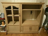 brown wooden TV hutch with cabinet Lewiston, 04240
