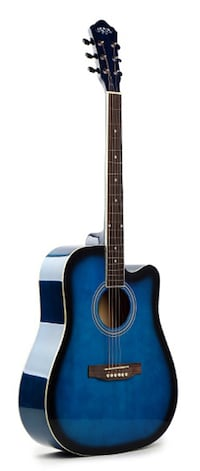 Acoustic guitar for beginners 41 inch full size Blue