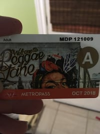 Metropass adult October's  Toronto, M6E