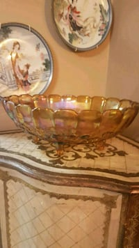 Vintage Carnival Glass Iridescent Bowl