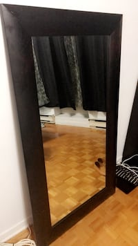 "Wooden mirror width: 31.5 "" X 55"" length. Rarely used ! Montréal, H4B"