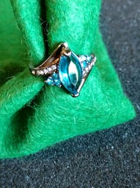 silver-colored ring with blue gemstone Paramount, 90723