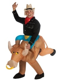 2 inflatable Bull Rider Costumes $25 EACH