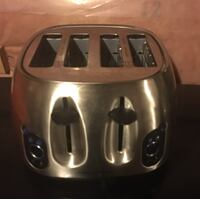stainless steel 4-slots bread toaster