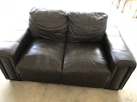 Brown leather Loveseat  Edinburg