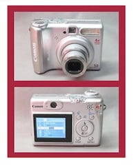 Canon PowerShot A [TL_HIDDEN] X Optical Zoom Bundle 2GB Memory Card  Canon PowerShot A530 5.0MP Digital Camera - Silver  - READY TO USE .  Includes:  SD CARD AND USB DOWNLOAD CABLE  Extra Canon Multimedia  Card MMC 16  Carrying  Case & strap  All so Toronto, M5P 2V5