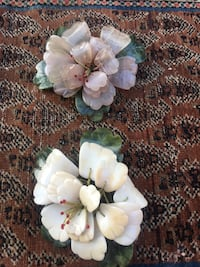Carved semiprecious stone flowers (  $ 65 each)  New Market, 22844