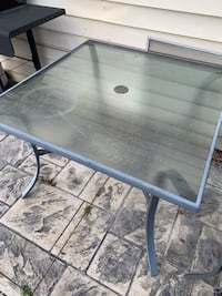 Outdoor patio table with 4 chairs