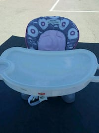 baby's white and blue high chair El Paso, 79905