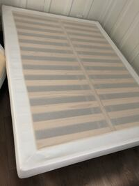 white wooden bed frame with white mattress New York, 10025