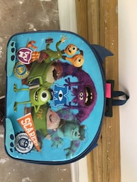 Monster's kids rolling suitcase