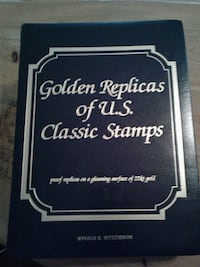 Golden Replicas of U.S. Classic Stamps by Ronald E. Hutchison book Logan, 43138