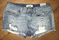 New with tags Victoria's Secret Pink denim destroyed shorts size 2  Fall River, 02720
