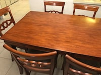 brown wooden dining table set Coconut Creek, 33066