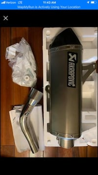 Motorcycle Exhaust Akrapovic Best out there paid 950$ brand new 814 mi