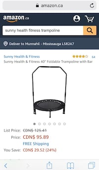 Fitness trampoline Mississauga, L5R 2A7