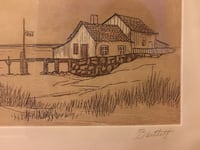 Signed Etching by Bartley Saint Clair Shores, 48080
