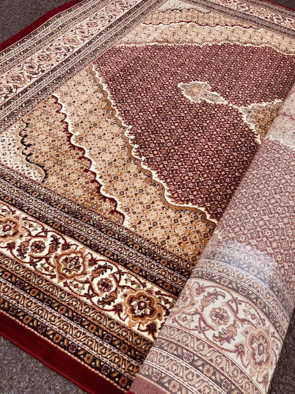 New tabrize rug size 8x11 nice red carpet persian or afghan style rugs 87d5d95b-297e-44ad-9cd3-f995e510f399