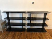 black and gray 3-layer TV stand Nashville, 37206