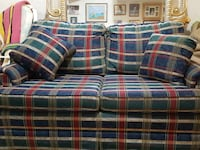 red, blue, and green plaid loveseat Gaithersburg, 20878