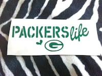 Packers life decal sticker York