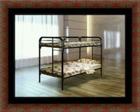 Twin bunk bed frame with mattress Laurel