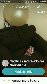 Really comfortable navy blue chair Grifton, 28530